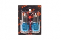 Грузики руля (пара) H10 синие с подсветкой (6 красн. диодов) универс.  SCOOTER-M