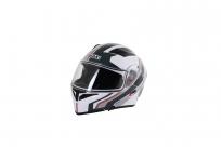 Шлем (модуляр) Ataki JK902 Shape белый/серый глянцевый XL
