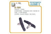 Колодки торм. Z-720 для V-brake, картриджные, резьбовые, 72мм, совместимость: Shimano XTR/DEORE XT, блистер