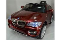 Детский электромобиль Kids Cars BMW X6 Special, кожаное сиденье, новая панель