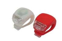 Фонарики силиконовые в компл.: красный/2 красных LED + белый/2 белых LED