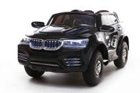 Детский электромобиль KT6575 BMW X9, с надувными колесами и кожаным сиденьем