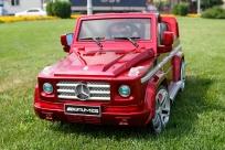 Электромобиль Kids Cars Mercedes G55 AMG, резиновые колеса, открываются двери