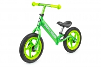 Беговел из чистого алюминия Small Rider Foot Racer AIR, надувные колеса (зеленый металлик)