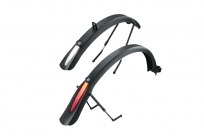 TOPEAK DeFender iGlow TX комплект крыльев д/дорожного вел-да с широкими покрышками со свет.полосой