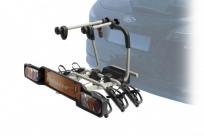 Peruzzo автобагажник на фаркоп parma сталь, откидной, для 2-х в-дов., фиксация велосипеда: колёса установ. в полозе, за трубу рамы max d: 60 мм, зажим-повор.рукоятка, серый, упак.-карт.короб.