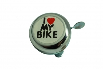 "Звонок ""I LOVE MY BIKE"" хромир., сталь"