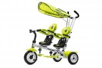 Трехколесный велосипед для двоих детей, двойни, погодков Small Rider Twins (CZ) (лайм)