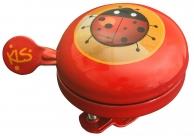 """Звонок Bell 60, 60мм, сталь, """"божья коровка"""", красный"""