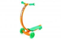 Самокат с изогнутой ручкой и светящимися колесами Zycom Zipster (Зайком Зипстер) (тигренок)