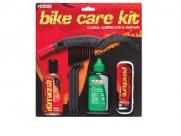 Weldtite набор для ремонта и обслуживания велосипеда. состав: очиститель цепи 75мл (арт. 03017), смазка tf2 extreme 75 мл (арт. 03036), пластиковые монтировки, аптечка, щетка. (англия)