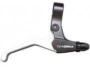 Tektro ручка тормозная cl520-rs правая, под 2 пальца, алюминий, для v-brake и шифтеров rapidfire, чёрн./серебр., 152г/пара, для city/trekking