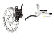 Tektro тормоз дисковый гидр. передний, draco ws, под женскую руку, ротор 160мм, белый калипер и брекет, чёрная ручка, гидролиния 725мм
