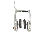 Tektro тормоза v-brake 855al для городских в-дов, алюминий, рамки 110мм для использования на велосипедах с крыльями, серебристые, с колодками 827.12 (55мм), 161г/колесо