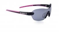 Очки спортивные swisseye horizon с регулируемыми дужками. оправа: чёрная матовая/розовая. линзы: дымчатые fm + оранжевые + бесцветные