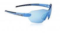 Очки спортивные swisseye panorama с регулируемыми дужками. оправа: синяя матовая/чёрная. линзы: дымчатые bw revo + оранжевые + бесцветные