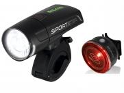 Sigma комплект освещения sportster / mono rl k-set, с зарядкой и акк., чёрный