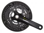 Shimano шатуны fc-t4010 alivio на 9 скоростей,175мм, 44x32x22t, octalink, с защитой, чёрные, без уп.