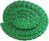 """Ybn цепь mk926, 1 ск., 1/2""""x1/8""""x102, халфлинковая, зелёная, в торг.уп., перфорированная, высокопрочные полые хромированные пины, высокая прочность на разрыв"""