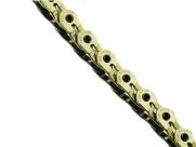 """Ybn цепь mk926, 1 ск., 1/2""""x1/8""""x116, халфлинковая, золотая, перфорированная, высокопрочные полые хромированные пины, высокая прочность на разрыв"""