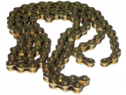 """Кмс цепь к710, 1 ск., 1/2""""x1/8""""x116, золотая. массивная, повышенная прочность, защита от спадания цепи."""
