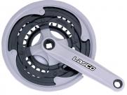 Lasco шатуны под квадрат, 24/34/42tх170мм, линия цепи 47,5мм, сталь в пластике, чёрные, с защитой