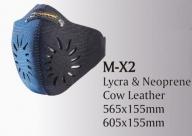 Открытая маска для велоспорта trigram m-x2. размер: 605x155мм. материал: лайкра/неопрен/кожа. цвет: синий/черный