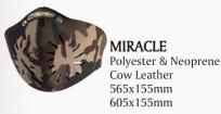 Открытая маска для велоспорта trigram mirace. размер: 605x155мм. материал: полиэстер/неопрен/кожа. цвет: хаки