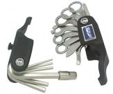 Super b 9800 набор инструментов складной 21 в 1: накидные ключи 8/9/10/12/13/14, шестигр. 2/2,5/3/4/5/6/8, открывалка, отвертки +/-, спицевой 3,2мм/3,3мм/3,5мм, монтажки, нож из нерж.стали