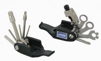 Super b 9820 набор инструментов складной 19 в 1: накидные ключи 8/9/10 мм, шестигранники 2/2,5/3/4/5/6/8 мм, открывалка, отвёртки ±, т25, спицевые ключи 3,2/3,3/3,5 мм, выжимка цепи, монтажки