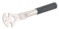 """Bike hand yc-163 ключ для педалей 14х9/16"""" шлицевой + 24мм накидной, с толстой рукояткой"""