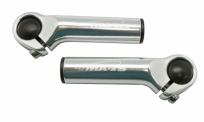 Рога sd-221, алюминий 6061, d:22,2мм, длина 105мм, вес 118г, серые