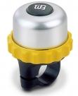 Звонок поворотный yws-662a, d:42м. материал: алюминиевый купол, пластиковая база. цвет: желтый/серебристый/чёрный.