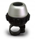 Звонок поворотный yws-665, d:42м. материал: алюминиевый купол, пластиковая база. цвет: серебристый/чёрный.