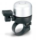 Звонок yws-633a с регулируемой на 360* позицией рычажка. d:35мм. материал: алюминиевый купол, пластиковая база. цвет: серебристый/чёрный.