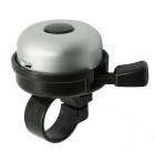 Звонок yws-611a d:40мм алюминиевый купол, пластиковая база, серебристый с чёрным
