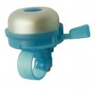 Звонок yws-611a d:40мм алюминиевый купол, пластиковая база, серебристый с голубым