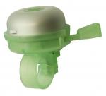Звонок yws-611a d:40мм алюминиевый купол, пластиковая база, серебристый с зелёным