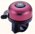 Звонок yws-610a, d:48мм. материал: алюминиевый купол, пластиковая база. цвет: красный/чёрный.