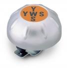 Звонок yws-360s, d:56мм. материал: сталь. цвет: серебристый. рисунок: аббревиатура yws.
