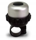 Звонок поворотный yws-663, d:42м. материал: алюминиевый купол, пластиковая база. цвет: серебристый/чёрный.