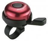 Звонок cd-603, мтериал: алюминиевый купол, пластиковая база. крепление: на руль d:22,2мм. цвет: красный.