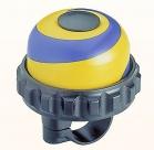 Звонок поворотный yws-666a,  d:47м. материал: алюминиевый купол и пластиковая база. цвет: синий/жёлтый/чёрный