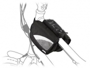 Сумка на раму передняя sh-17, 17,5х12x14см, чёрная с серой вставкой