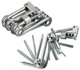 Kellys инструмент складной kls chainey, 11 функций: шестигранники 2/2,5/3/4/5/6/8мм, отвёртки +/-, т25, выжимка