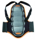 Защита спины etto junior black. количество пластин: 7. цвет: черный. крепление: ремень на липучках, наплечные ремни