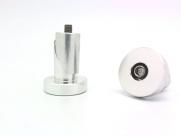 Заглушки руля cap-05, d:31.6х7.0мм, m6х40мм алюминий, серебристые с логотипом pazzaz, пара