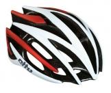 Шлем etto hurricane. цвет: белый/красный. размер: s/m (54-57 см)