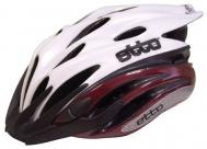 Шлем etto typhoon. цвет: белый/красный. размер: s/m (54-57см)