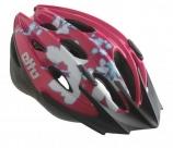 Шлем детский etto shark. цвет: розовый/белый. размер: 50-57см